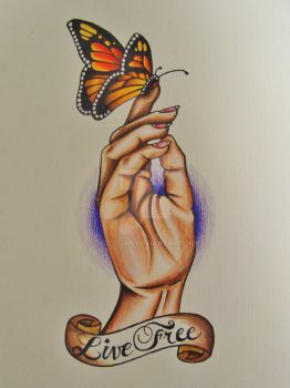 'Live Free' tattoo flash by mgcogan