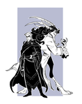 Demon and his master by Drkav