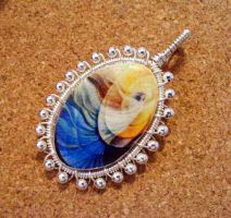 Wire Wrap Polymer Clay Cab by Create-A-Pendant