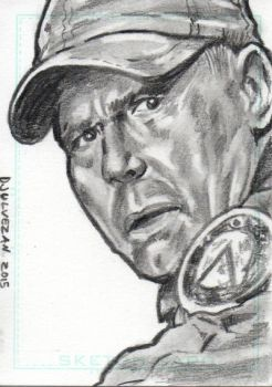Stargate SG1 Jack O'Neill Sketch Card 2 by boxofcreatures