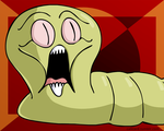 Scared Worm by Calicard
