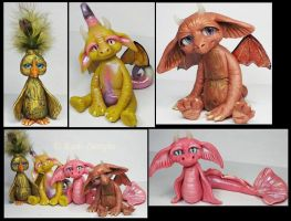 Polymer clay Littles Creatures by KabiDesigns