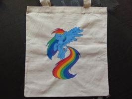 Painted Bag - Rainbow Dash by haselwoelfchen