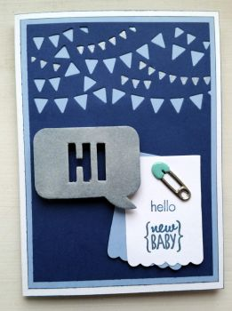 hello new baby boy greeting card by inconsistentsea
