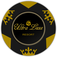 Fallout New Vegas Ultra Luxe Resort poker Chip by JaggedGenius