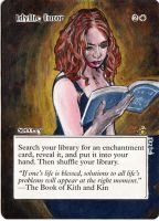 Magic the Gathering Alteration: Idyllic Tutor by Ondal-the-Fool