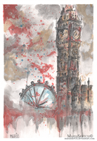 London - UK | Illustration - Watercolor by MariaSketch