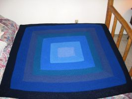 Blue square blanket by crazynina