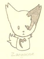 Chibi Zangoose by LordoftheFuzzys