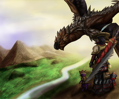 Monster Hunter Portable 3 by fickledragon