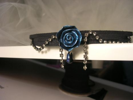 Rose Crystal Choker by JuxtaposeGraphics
