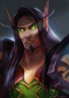 WoW: Virilion the blood elf by AppleSin