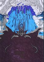 Morgoth in front of Angband by Wosiu1989