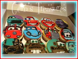 Cars Cupcakes! by gertygetsgangster