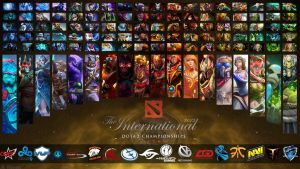 The International 5 All Heroes+Teams Wallpaper by Edward5622