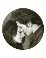 Edward and Bella: Tondo by Randy-man