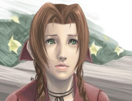 Aeris Gainsborough by charlestanart