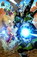 Gohan vs CEll DBZ by TeoGonzalezColors