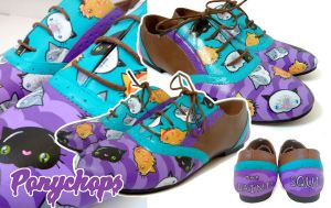 Purple Kitty Brogues by ponychops