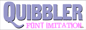 My Imitation of the Quibbler Font by tatesha