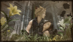 Cloud and Tifa 2 by AuraIan