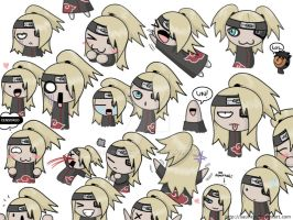 The many faces of Deidara by saurien