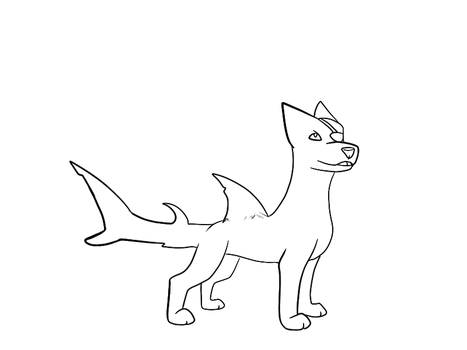 sharkgriebngweofneoqw outline by LittleNoodlez