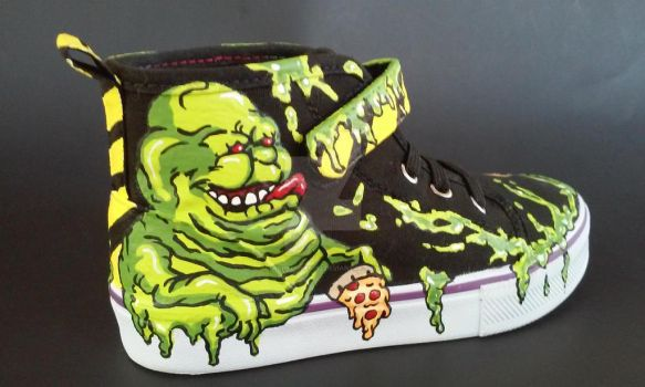 Custom Ghostbusters Shoes Slimer Stay Puft by rachelliles352