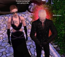 Wesker very own  Bitch PLZ pic by Frigidchick