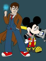 King Mickey and Tenth Doctor by SamChildOfLight