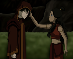 Zuko and Katara - night by IntricateMagic