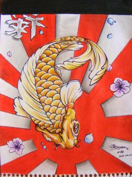 Koi fish by Dzsyna96