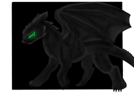 Toothless from How to Train your Dragons by SimplyMisty