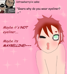 Ask Gaara 33- Makeup by askGaarathekazekage