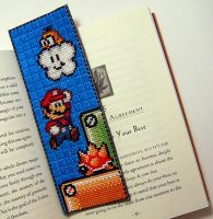 Mario-2 Bookmark X-Stitch by Shellfx