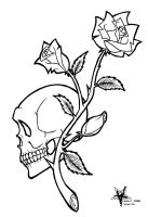 Skull and Roses Flash by Almigh-T