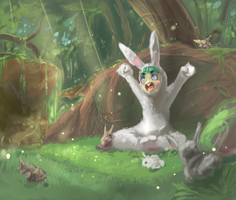 One with the rabbits by kango67