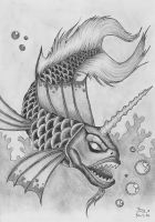 Horned Fish by Fernoll