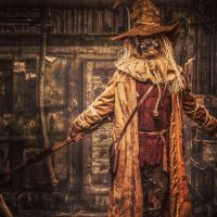 Scarecrow the god of fear by SmilexVillainco