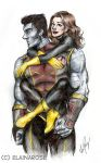 Kitty and Colossus by elainascissorhands