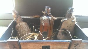 Insmouth marsh refinery crate with fish oil botles by prtrooper