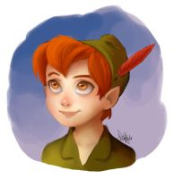Peter Pan Sketchieboop by VanillaDeonna