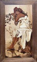 Inlay Alfons Mucha - Summer by bengo-matus