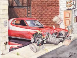 Starsky And Hutch Car Chase by FastLaneIllustration