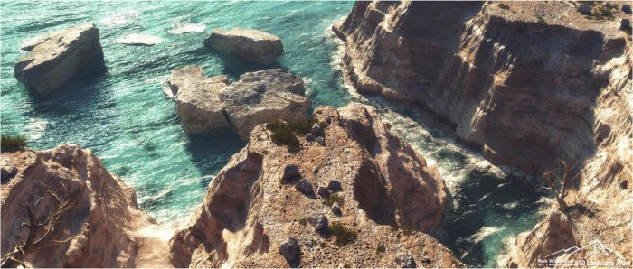 Cliff Line by 3DLandscapeArtist