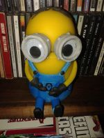 Cold porcelain - Minion jar 2 by hot-jonee