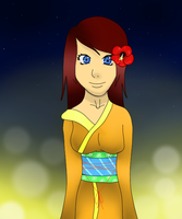 Me in a Kimono by Wonelle