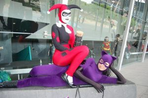 Catwoman and Harley Quinn by CaliGirlCosplay