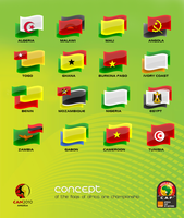 flags of Africa...angola 2010 by REDFLOOD