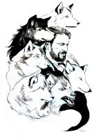Ned Stark's puppies by nonsenser